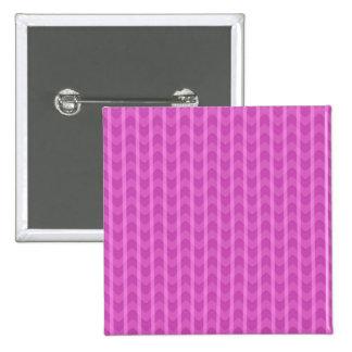 Trendy Girly Pink Zigzag Stripes Pattern Pin