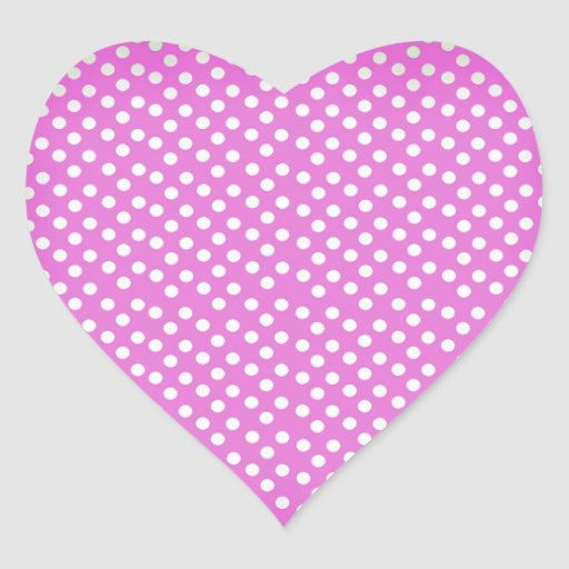 Trendy Girly Vintage Pink Polka Dots Pattern Stickers