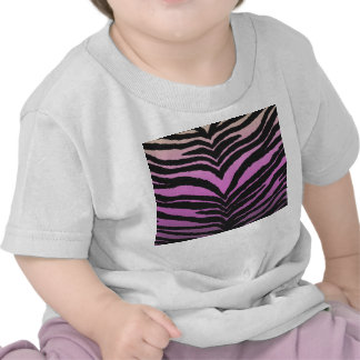 Trendy Girly Zebra Print Faded Pink to White Tshirts