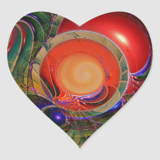 Trendy Goblet Design 001 Heart Stickers