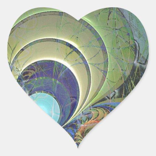 Trendy Goblet Design 004 Heart Sticker