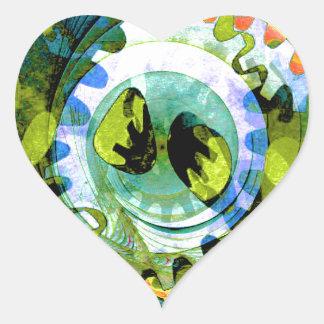 Trendy Goblet Design 005 Heart Sticker