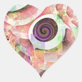 Trendy Goblet Design - 06-2 Heart Sticker