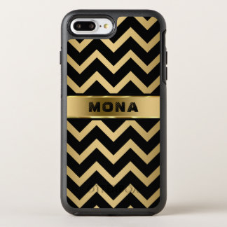 Trendy Gold Background And Black Chevron OtterBox Symmetry iPhone 8 Plus/7 Plus Case