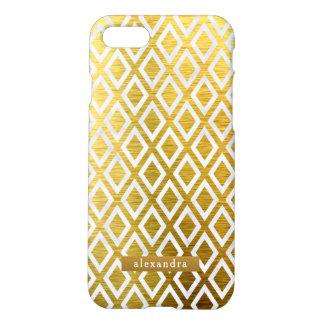 Trendy Gold Diamonds Pattern iPhone 8/7 Case