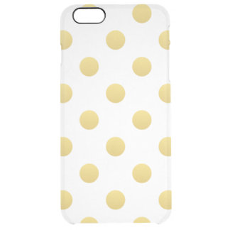 Trendy Gold Dots Clear iPhone 6 Plus Case