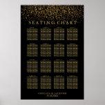 Trendy Gold Light on Black - Seating Chart