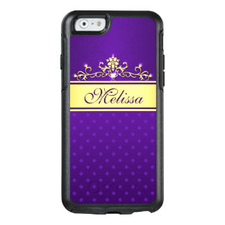 Trendy Gold Purple Diamonds OtterBox iPhone 6 Case