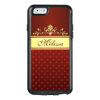 Trendy Gold Red Diamond OtterBox iPhone 6/6s Case