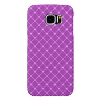 Trendy Grape, Purple Criss-Cross Pattern