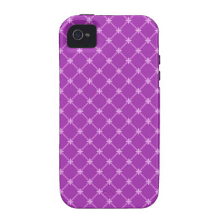 Trendy Grape, Purple Criss-Cross Pattern Vibe iPhone 4 Covers