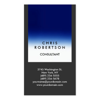 Trendy Gray Blue Stripe Consultant Business Card