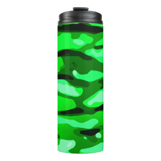 Trendy Green Abstract Pattern Thermal Tumbler
