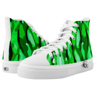 Trendy Green Camo Pattern High Tops