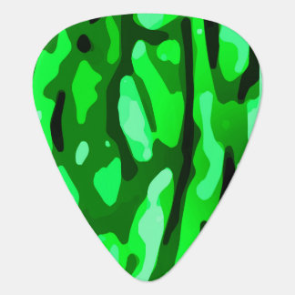 Trendy Green Camo Pattern Plectrum