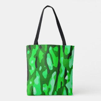 Trendy Green Camo Pattern Tote Bag