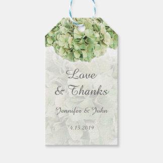 Trendy Green Hydrangeas Wedding Favor Gift Tag