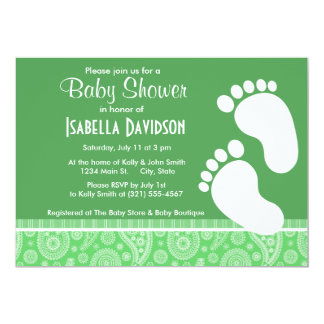 Trendy Green Paisley Card