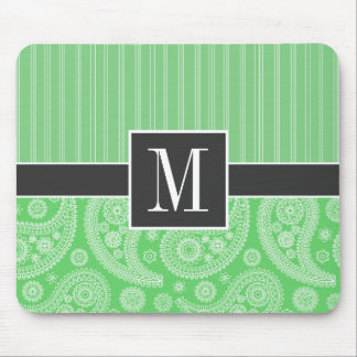 Trendy Green Paisley Mouse Mat