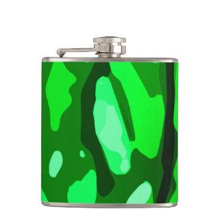 Trendy Green Pattern Hip Flask