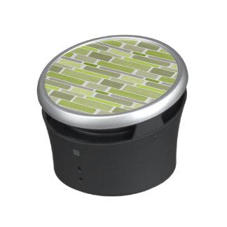 Trendy Green Retro Blocks Speaker