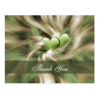 trendy green  ThankYou Cards