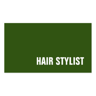 Trendy Green White Modern Hair Stylist Pack Of Standard Business Cards