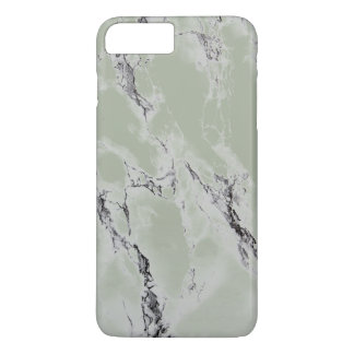 Trendy Greenish Gray And Black Marble Stone iPhone 8 Plus/7 Plus Case