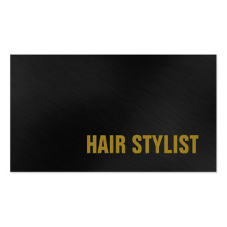 Trendy Grey Professional Modern Hair Stylist Pack Of Standard Business Cards