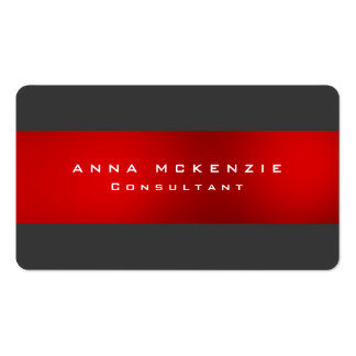 Trendy Grey Red Unique Trendy Creative Pack Of Standard Business Cards