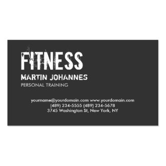 Trendy Grey White Personal Trainer Business Card