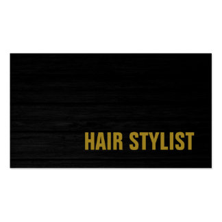 Trendy Grey Wood Professional Modern Hair Stylist Pack Of Standard Business Cards