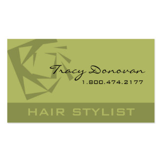 "Trendy Hair Stylist ""Quartz"" designer Double-Sided Standard Business Cards (Pack Of 100)"
