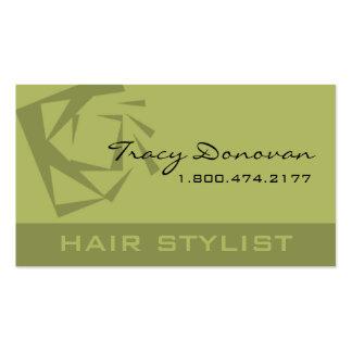 Trendy Hair Stylist Quartz designer Business Card Template