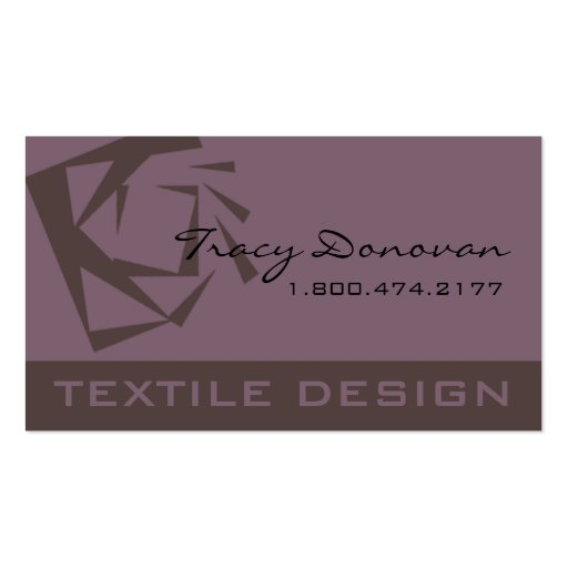 "Trendy Hair Stylist ""Quartz"" designer Business Card Template"