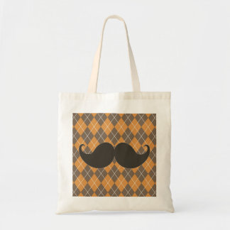 Trendy Handlebar Mustache Gift for Dad Tote Bag