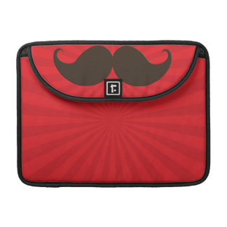 Trendy Handlebar Mustache Moustache Stache Sleeve For MacBook Pro