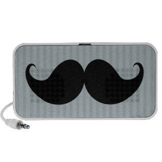 Trendy Handlebar Mustache Moustache Stache Notebook Speaker