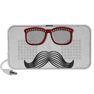 Trendy Handlebar Mustache Moustache Stache Laptop Speakers