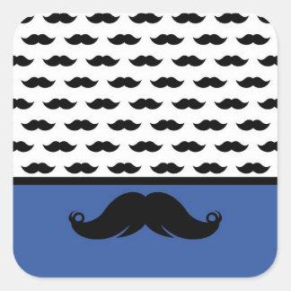 Trendy Handlebar Mustache Moustache Stache Square Sticker