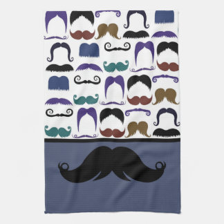 Trendy Handlebar Mustache Moustache Stache Tea Towel