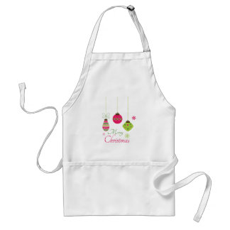 Trendy hanging ornaments merry Christmas apron