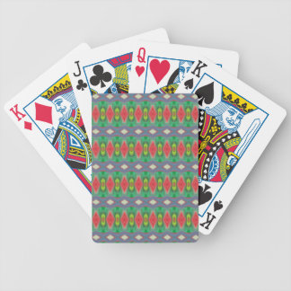 Trendy horizontal colorful pattern bicycle playing cards
