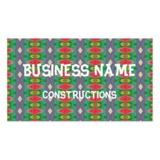 Trendy horizontal colorful pattern pack of standard business cards