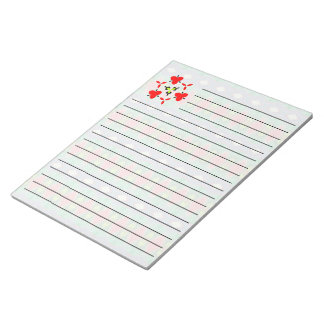 Trendy horizontal colorful pattern notepad