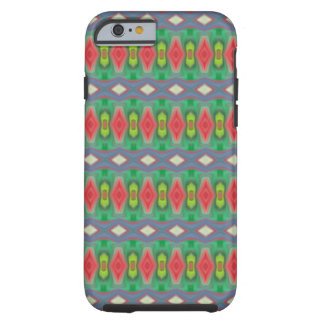 Trendy horizontal colorful pattern tough iPhone 6 case