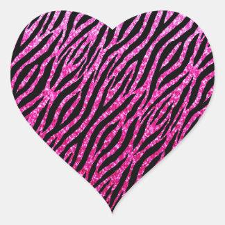 Trendy Hot Pink Zebra Print Glitz Glitter Sparkles Stickers