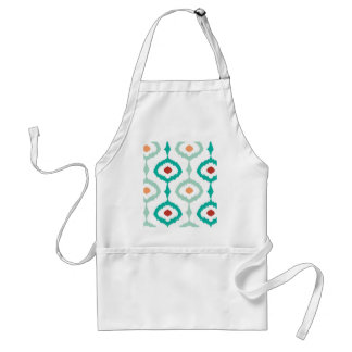 trendy,ikat,ogee,sommer colours,pattern,girly,chic standard apron