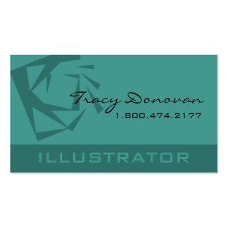 Trendy Illustrator Quartz template seafoam Business Card