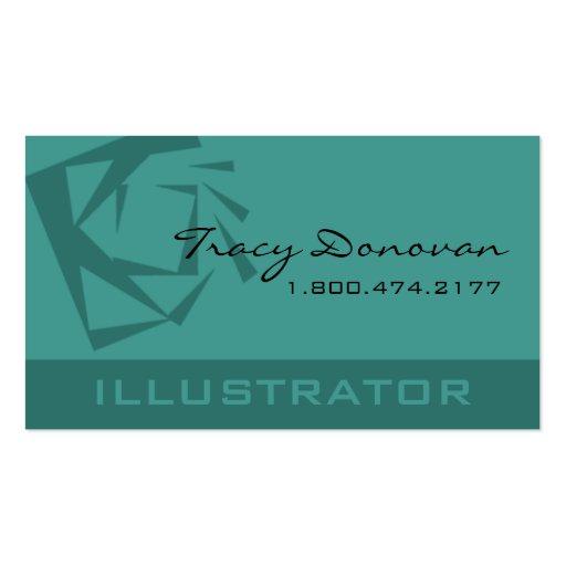 "Trendy Illustrator ""Quartz"" template | seafoam Business Card"